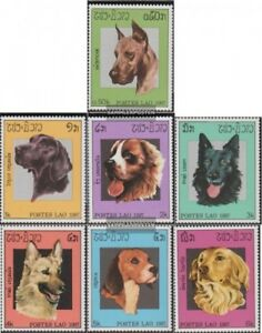 Unmounted Mint Beautiful Laos 981-987 Never Hinged 1987 Dogs Orders Are Welcome. complete Issue