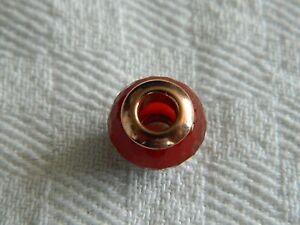 Clogau-Sterling-Silver-amp-9ct-Rose-Gold-Cornelian-Bead-Charm-RRP-99-00