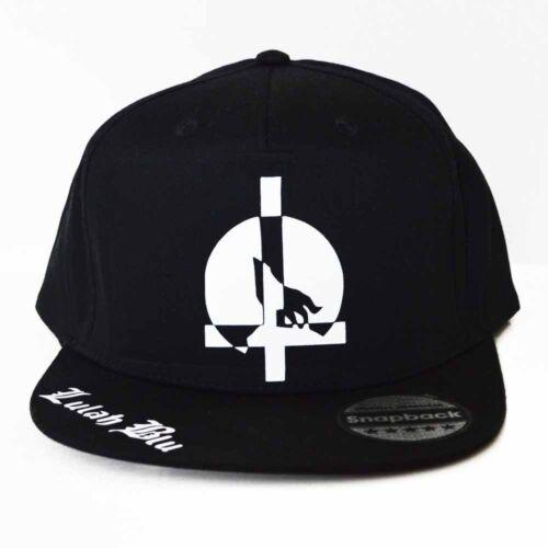 Wolf Cross Noir Casquette Réglable-Flat Peak-Cool-Summer Style-Rappeur Chapeau
