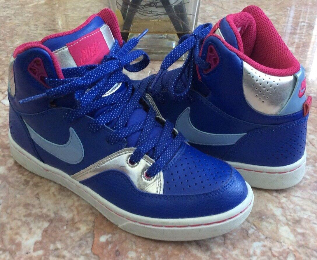 nike bleu court tranxition bleu nike argenté baskets taille femmes 6,5 70db8a