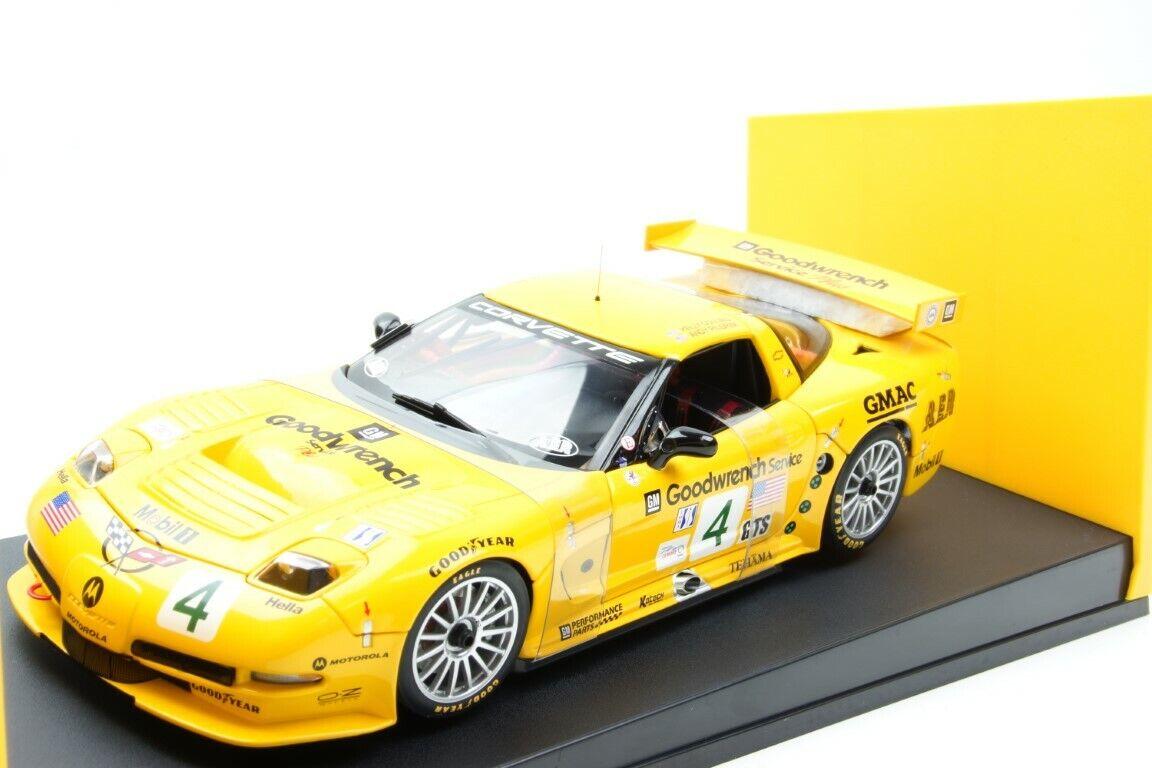 Autoart CHEVROLET CORVETTE c5-r Winner ALMS Road 500 2002   4 amarillo 1 18