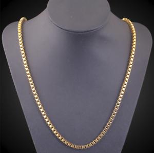 Goldkette Herrenkette vergoldet Panzerkette für Männer