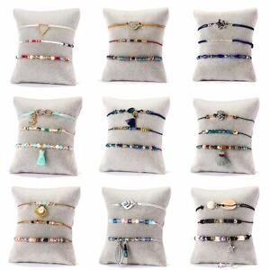 3Pcs-set-Boho-Women-Shell-Pearl-Beads-Natural-Stone-Tassel-Crystal-Bracelet-Gift