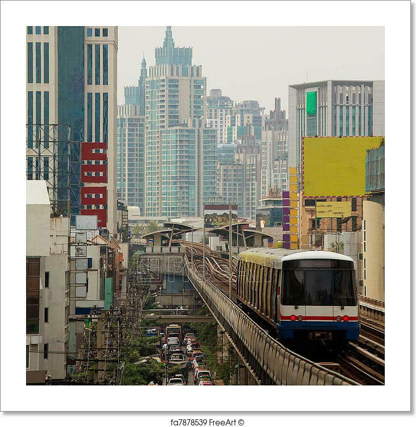 Skytrain Run Kunst Drucken Home Decor Wand Kunst Poster