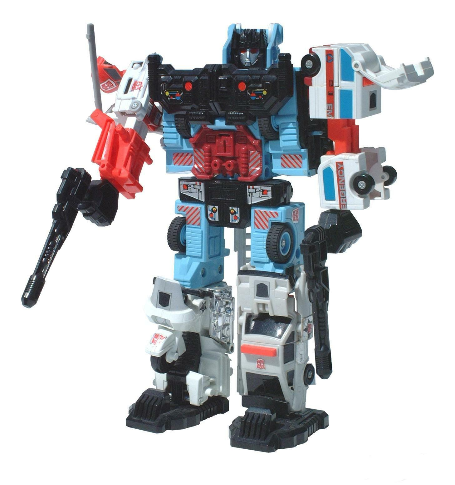 Ko Transformers G1 Defensor Streetwise Blade Hot Spot Groove First Aid Neuf