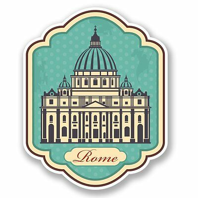 2 x Italy Rome Colosseum Vinyl Sticker Laptop Travel Luggage Car #6408