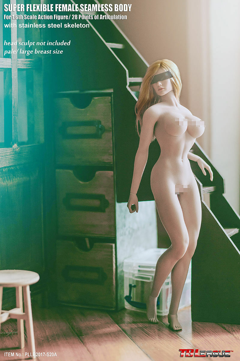 TBLeague S20A S20A S20A 1 6 Female Flexible Pale Skin Large Breast 12  Figure Body Model 6dfd0a