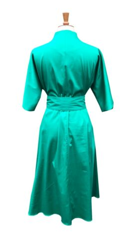 Baylis /& Knight Green Grace Kelly Fit and Flare Pocket Dress wedding guest