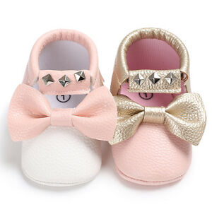 Details about Baby Girl Faux Leather Princess Crib Shoes Infant Soft First  Shoes Newborn to 18