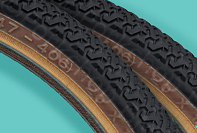 "Kenda K55 freestyle old school BMX skinwall gumwall tires PAIR 20/"" X 1.75/"" GRAY"