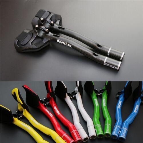 TE/'MANI Carbon Road Bike TT Triathlon Aero Bar rest Handlebar Aerobar 31.8*270mm