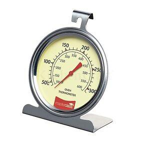 Masterclass Acero Inoxidable Horno termómetro. Horneado / asado /