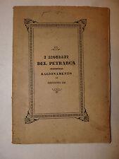 Biografia Letteratura, Zefirino Re: Biografi del Petrarca 1859 Fermo Ciferri