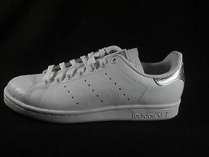 ... Original-ADIDAS-STAN-SMITH-cuir-blanc-argent-metallise-