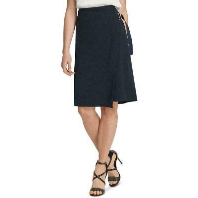 Prologue Black Women/'s Striped A~Line Wrap Skirt Size 6
