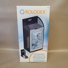 Rolodex Two Tone Mesh Photo Frame Card File Holds 300 Business Cards