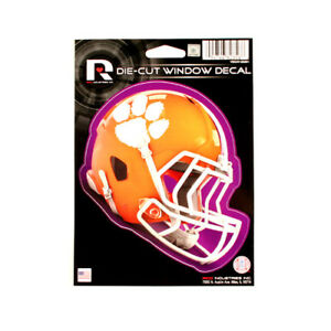 new arrival 33ed1 16ca4 Image is loading CLEMSON-TIGERS-HELMET-WINDOW-DECAL-5-25-034-