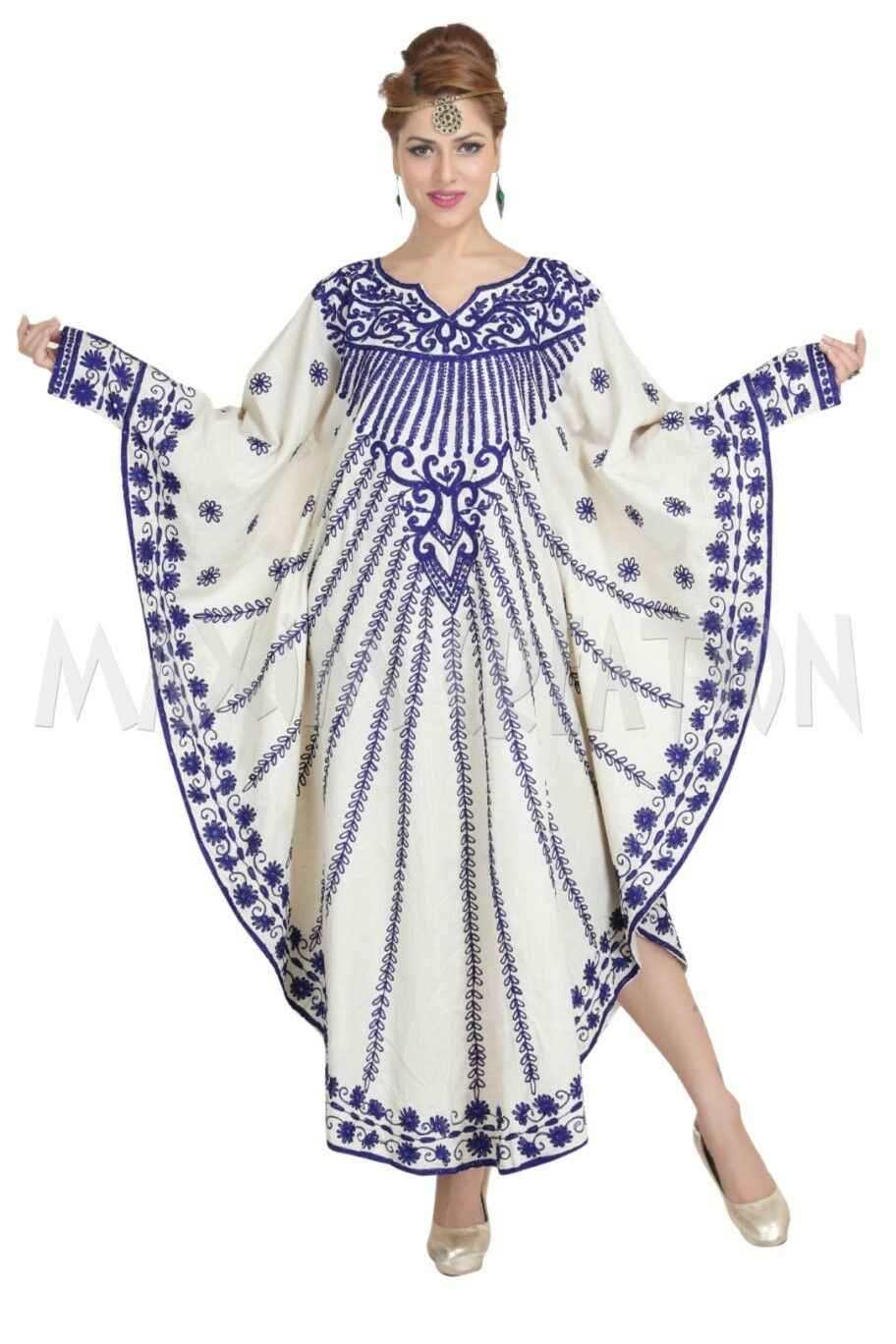 EXCLUSIVE MODERN DJELLABA PARTY WEAR ISLAMIC CAFTAN DRESS FOR WOMEN 6241