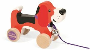 Janod-MY-DOG-PULL-ALONG-BEAGLE-Wooden-Toy-BN