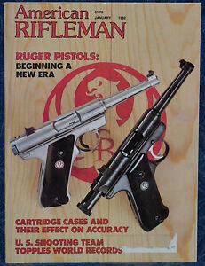 Vintage-Magazine-American-Rifleman-JANUARY-1982-BERETTA-Over-Under-SHOTGUN