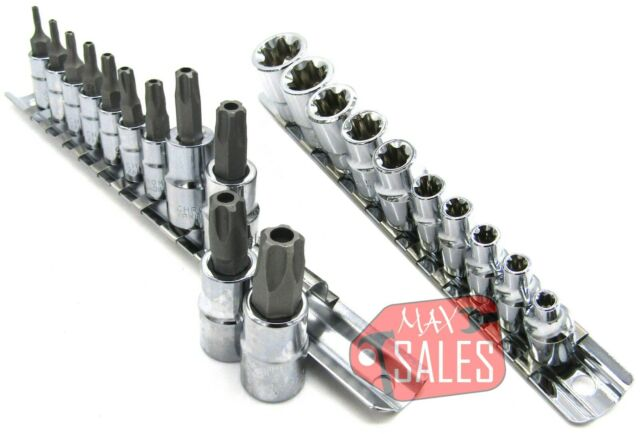 38 pcs Handy Torx Star Socket Set /& Bit Male Female E-Type Sockets