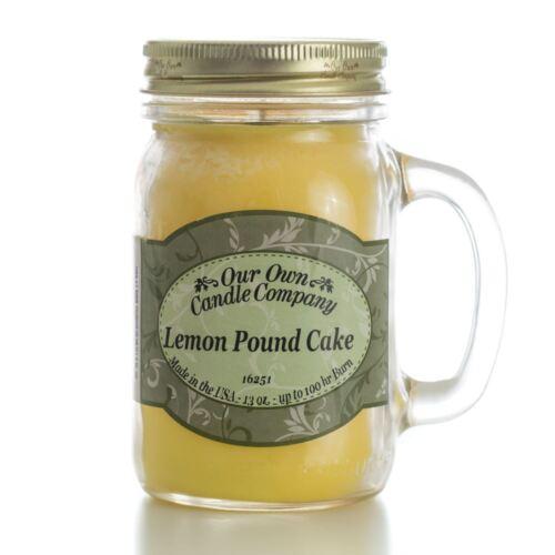 Our Own Candle Company Lemon Pound Cake Fragranced Large Mason Jar Candle