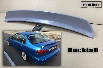Honda Civic Domani Ek Ej Md Sedan Rocket Style Rear Trunk Spoiler Ducktail Wing