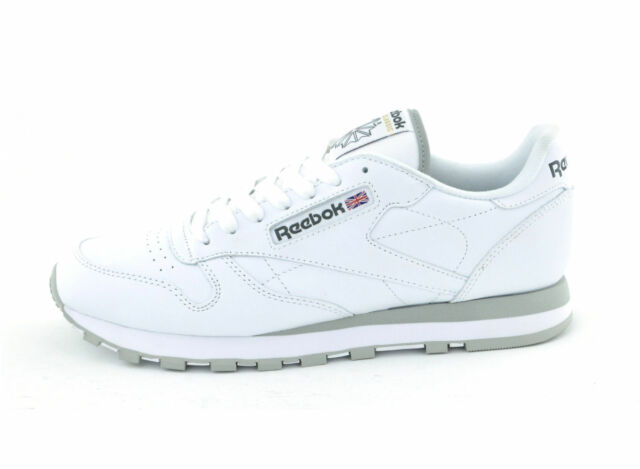 093127aec46 Reebok Classic Leather Trainers Shoes White 2214 Leisure Sports Fitness UK  12 for sale online