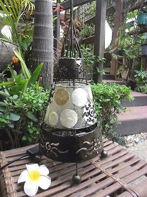 Capiz Shell Table Lamp- Teepee Design | eBay