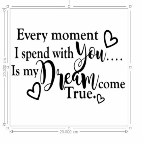 Every moment I spend with you Vinyl Sticker DIY Box Frame LOVE VALENTINE/'S