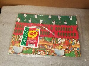 Vintage-Christmas-Wrapping-Paper-Lot-Artfaire-SEALED-NEW-100-sq-ft-Made-in-USA
