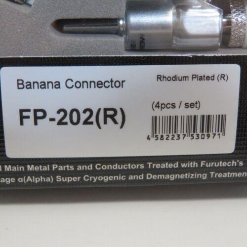 ADL Rhodium-plated Banana Plug Set of 4pcs FP202R New R FURUTECH FP-202