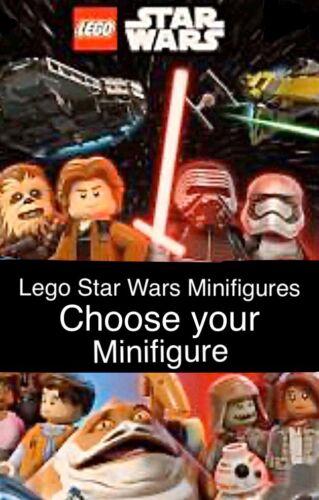 Choose Your Minifigure Various Lego Star Wars Minifigures