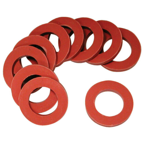 Rubber Washers 10 Pack Red Garden Water Hoses Hardware Flat Shower Heads Seal