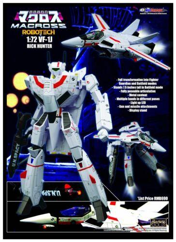 Pre-order Kitz Concept 1//72 Veritech Fighters VF-1J RICK HUNTER Robotech Toy