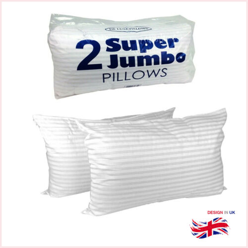 Super Soft Luxury Hollowfibre Filling Bounce Back Pillows 2 Pack Top Comfortable