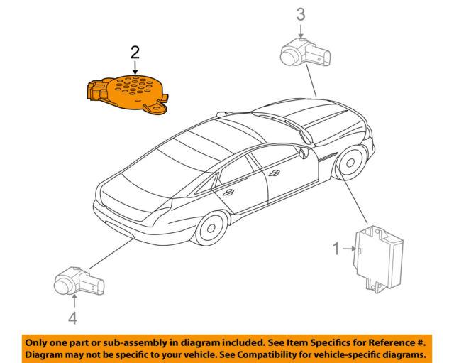 Jaguar Oem 11 15 Xj Pdc Backup Reverse Parking Park Aid Beeper
