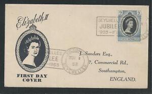 SEYCHELLES # 172 QUEEN ELIZABETH II CORONATION First Day Cover (5803)