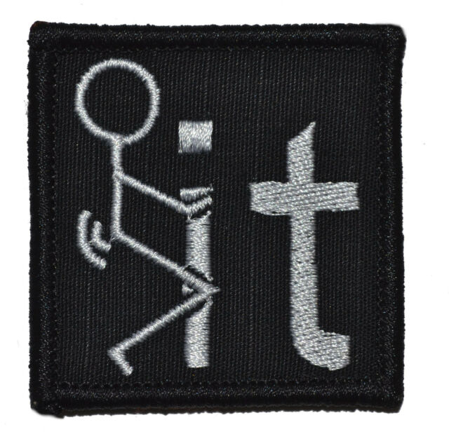F**k It - 2x2j Military/Morale Funny Hat Patch with Hook and Fastener NSFW