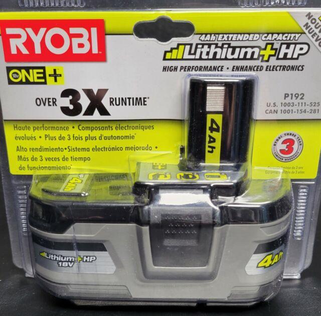 Ryobi P192 One+ 18V 4.0Ah Li-Ion 18v ONE Battery