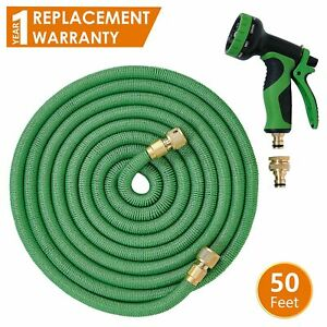 ANSIO Garden Hose Pipe Expandable Water Hose 50 Ft/15M with Brass Connectors,...