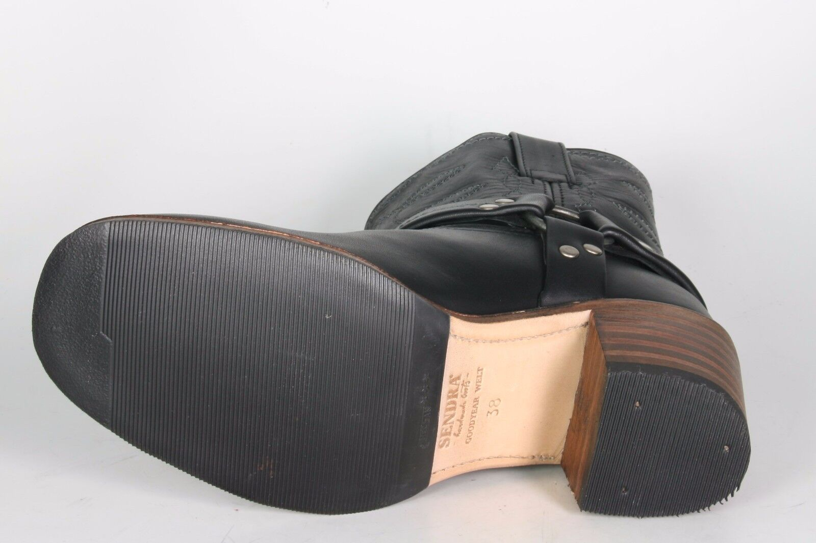 9569 Stiefeletten Sendra Stiefeletten 9569 Negro Rahmengenähte Schuhe BikerStiefel 6afa90
