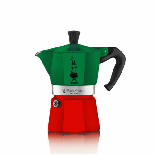 Bialetti Moka Express Tricolor 6 Tassen Limitierte Auflage Made in Italy