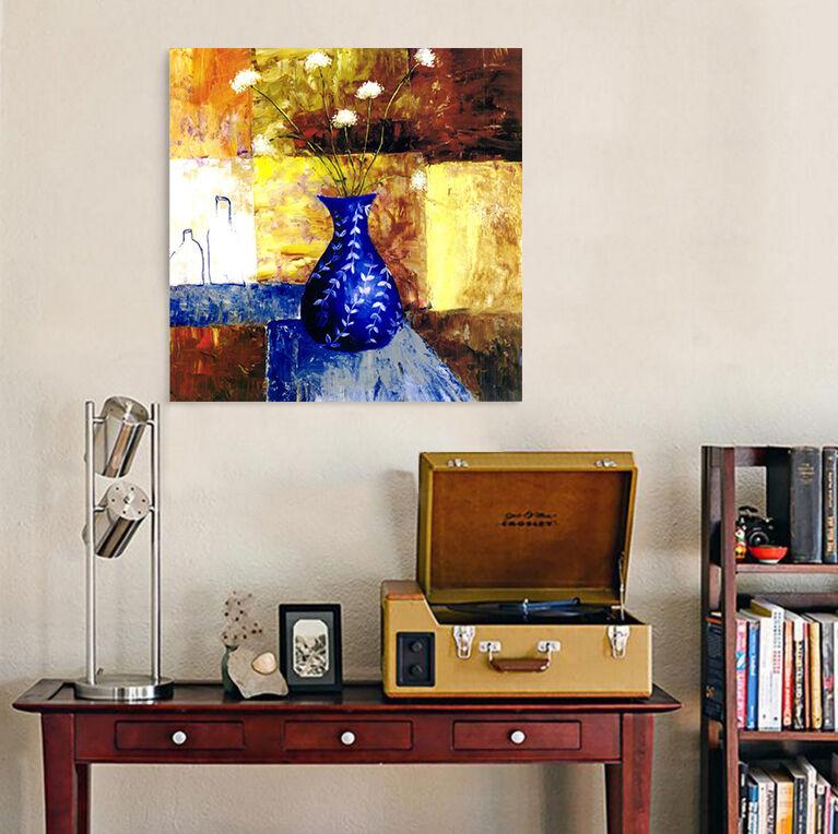 3D Blaue Blume Vase Weiß 8544 Fototapeten Wandbild BildTapete AJSTORE DE Lemon