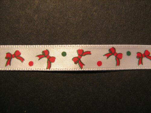 Christmas Ribbon 10mm 1 Metre  Sewing//Crafts//Haberdashery//Scrapbooking