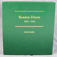 Coin Album By Littleton Barber Dimes 1892 - 1916 Lca60