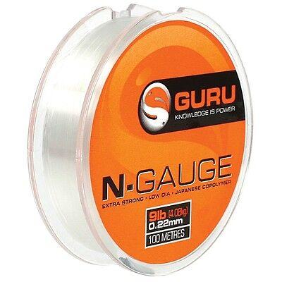 GURU N GAUGE 3lb LINE 100mtrs FOR CARP BRAND NEW COARSE FISHING