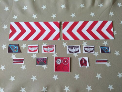 Red Buzz lightyear figure 12 custom made replacement sticker set