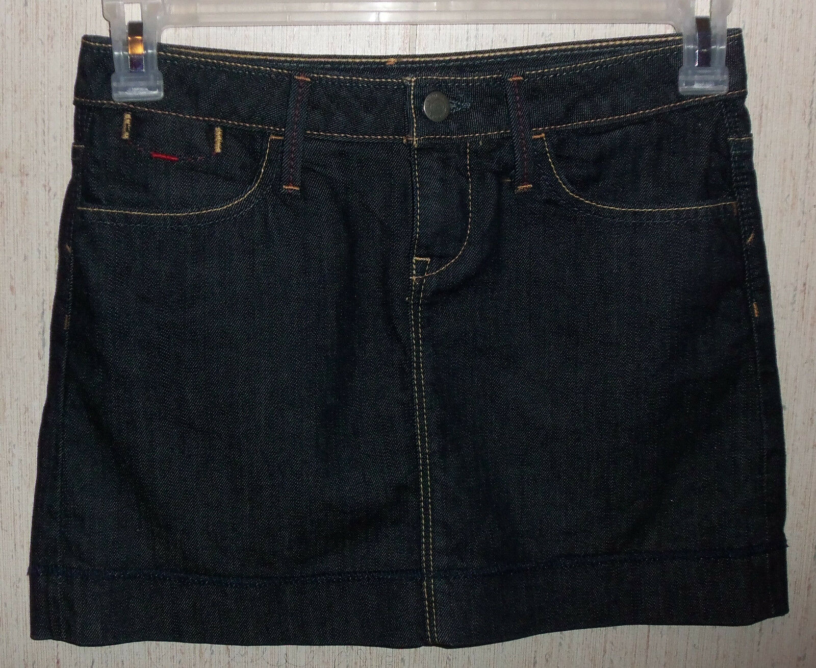 NWOT WOMENS BANANA REPUBLIC Premium Denim STRETCH DARK blueE JEAN SKIRT  SIZE 0