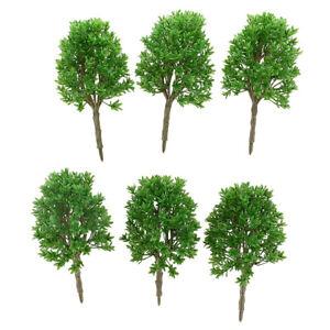 6pcs DIY Painted Model Trees Train Landscape Scenery Accessory 1:50 O Scale